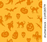 halloween seamless pattern with ... | Shutterstock .eps vector #114928579