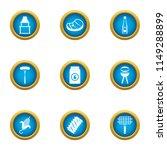 cookery expert icons set. flat... | Shutterstock .eps vector #1149288899