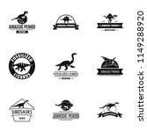 jurassic period logo set.... | Shutterstock .eps vector #1149288920