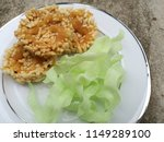 crisp and chip rice fried with... | Shutterstock . vector #1149289100