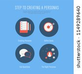 people creating buyer personas... | Shutterstock .eps vector #1149289640