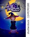 happy halloween. vector... | Shutterstock .eps vector #1149290180