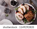 Small photo of Roasted pork loin with apple and cranberry filling