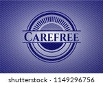 carefree with jean texture | Shutterstock .eps vector #1149296756