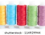 skeins thread color - stock photo