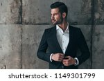 charming man. handsome young... | Shutterstock . vector #1149301799
