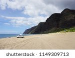 scenic beach in kauai  hawaii.... | Shutterstock . vector #1149309713