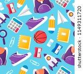 school seamless pattern. vector ... | Shutterstock .eps vector #1149311720