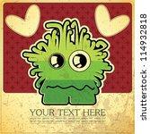 monster on retro background   Shutterstock .eps vector #114932818