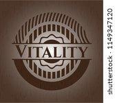 vitality wooden emblem. retro | Shutterstock .eps vector #1149347120
