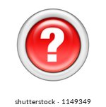 Question Mark Button - stock photo