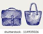 bags. doodle style. raster... | Shutterstock . vector #114935026