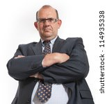 imposing man in business attire ...   Shutterstock . vector #114935338