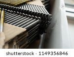 pack of roofing nails in... | Shutterstock . vector #1149356846