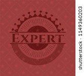 expert realistic red emblem | Shutterstock .eps vector #1149360203