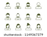 people personality line icons | Shutterstock .eps vector #1149367379