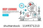 concept of deep learning ... | Shutterstock .eps vector #1149371213