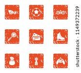 prevent icons set. grunge set... | Shutterstock .eps vector #1149372239
