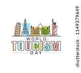world tourism day logo vector... | Shutterstock .eps vector #1149379649