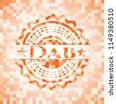 dab orange mosaic emblem | Shutterstock .eps vector #1149380510