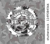 offspring on grey camo texture | Shutterstock .eps vector #1149384566