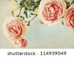 Vintage Background. Flowers...