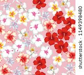 tropical beautiful flower... | Shutterstock .eps vector #1149398480