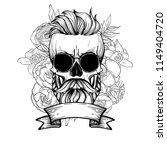 angry skull with hairstyle | Shutterstock .eps vector #1149404720