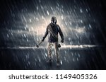 terrorist in a stormy space... | Shutterstock . vector #1149405326