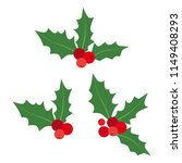 set of christmas decorations.... | Shutterstock .eps vector #1149408293