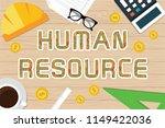 human resource concept vector... | Shutterstock .eps vector #1149422036