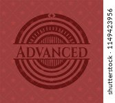 advanced red icon or emblem | Shutterstock .eps vector #1149423956