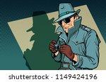 detective spy  shadow. comic... | Shutterstock .eps vector #1149424196