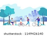 city park. vector illustration. | Shutterstock .eps vector #1149426140