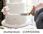 close up showing a wedding cake ... | Shutterstock . vector #1149433346