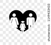 couple with daughter in a heart ... | Shutterstock .eps vector #1149433433