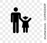 father with daughter vector... | Shutterstock .eps vector #1149433439