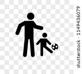 father playing soccer with his...