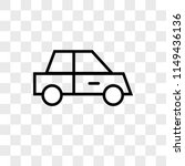 car vector icon on transparent...