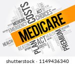 medicare word cloud collage ... | Shutterstock .eps vector #1149436340
