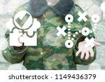 tactics military war scheme of... | Shutterstock . vector #1149436379
