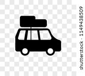 car with luggage vector icon on ... | Shutterstock .eps vector #1149438509