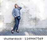 fashion. young woman in a... | Shutterstock . vector #1149447569