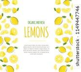lemon frame vector illustration.... | Shutterstock .eps vector #1149447746