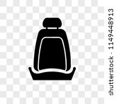 car seat vector icon on... | Shutterstock .eps vector #1149448913