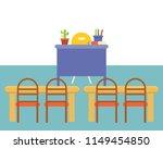 empty classroom or study room... | Shutterstock .eps vector #1149454850