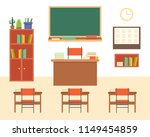 empty classroom or study room... | Shutterstock .eps vector #1149454859