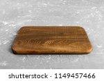 empty wood cutting board on... | Shutterstock . vector #1149457466