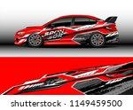 car wrap design vector  truck... | Shutterstock .eps vector #1149459500