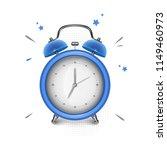 blue alarm clock on white... | Shutterstock .eps vector #1149460973